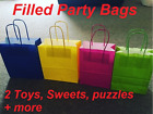 FILLED Party Bags with sweets 2 toys tattoo balloon wedding CHILDREN BIRTHDAY
