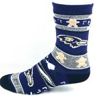 Baltimore Ravens Football Ugly Christmas Sweater Gingerbread Crew Socks $10.99 USD on eBay