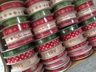FESTIVE MINI Ribbon Reels - 10 & 15mm - 12 Festive designs - 4 / 5m full reel!