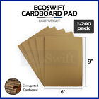 """1-200 """"EcoSwift"""" Corrugated Cardboard Pads Filler Inserts 32 ECT 1/8 Thick 6 x 9"""