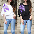 New Womens Summer Flare Sleeve Shirt Casual Blouse One Shoulder Tops T Shirt Top