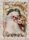 Whimsy Dust Christmas Santa & Girl Quilt Block Multi Sz FrEE ShiP WoRldWiDE (WD1
