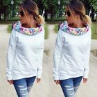 Fashion Women Floral Hooded Long Sleeve Pullover Casual Hoodie Sweatshirt B20E