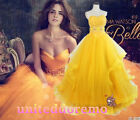 New Movie Beauty and The Beast Belle Princess Dress Cosplay Costume Fancy Dress