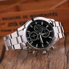 Fashion Mens Luxury Date Dial Stainless Steel Military Analog Quartz Wrist Watch