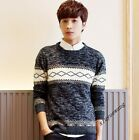 Mens Slim Sweaters Knitwear Pullover Crewneck Knit Short Sweater Coats Clothing
