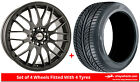 Alloy Wheels & Tyres 17'' Calibre Motion Vauxhall Astravan (4 Stud) [H] 04-09