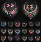 High Quality Women Jewelry Pendant Crystal Chunky Statement Chain Bib Necklace