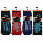 1 Mens Thermal NON-SKID Rubber Sole SLIPPER Socks UK 7-11