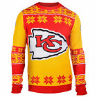 NFL UGLY SWEATER Pullover Christmas Style KANSAS CITY CHIEFS Big Logo Football