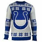 NFL UGLY SWEATER Pullover Christmas Style INDIANAPOLIS COLTS Big Logo Football