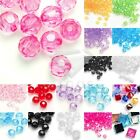 Wholesale Acrylic Transparent Bicone Beads Faceted Jewelry Making 4/8/10/12mm