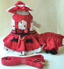 Dog Harness Dress, Hat, Leash, Panty - DAISY BUG - XSMALL