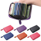 Mini Genuine Real Leather Credit ID Business Travel Card Holder Pocket Wallet