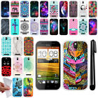 For HTC PL80130 One SV Cricket TPU SILICONE Soft Protective Case Cover + Pen