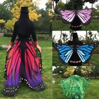Women Ladies Soft Fabric Butterfly Wings Fairy Nymph Pixie Costume Accessories