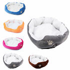 Pet Basket Bed with Fleece Soft Comfy Fabric Washable Dog Cat Cosy Dogs Cats