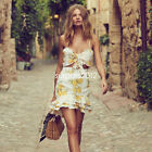 Summer Sexy Tracksuit  Lemon Print Two Piece Set Crop Tops + Skirts Outfit Suit