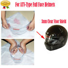 3mm Clear Visor Shield Motorcycle For ATV-Type Full Face Helmets S-XXL Washable
