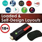 SPMC Adult Android 3229 Quad Core Stream Box Dongle MK809IV i8 keyboard