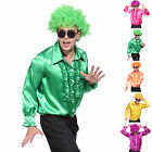 Deluxe Adult Mens 60s 1970's Disco Fever Frilly Ruffle Shirt Fancy Dress Costume