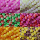 20/100Pcs Color Shadow Art Round Jade Beads Jewelry Making DIY For Necklace 8mm