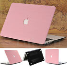 "Pink Wood Leather Coated Matte Case for MacBook Air 11"" Pro 13"" 15""-Release 2016"