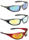 Mens Wrap Mirror Around Sports Mirrored Reflective Sunglasses Black Green Red