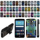 For LG G Stylo LS770 G4 Note Hybrid Rugged Heavy Duty Kickstand Case Cover + Pen