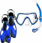 Mares Snorkel Package - Silicone Mask and Snorkel with Performance Short Fins