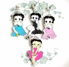 Betty Boop enamel clip on charm  necklaces bracelets backpacks purses handmade $5.99 USD