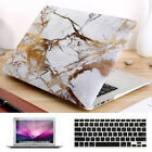 """3in1 Gold Marble Griotte Matte Case for MacBook 12"""" Air Pro 11""""13"""" 15"""" Touch Bar"""