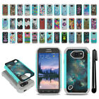 For Samsung Galaxy S6 Active G890 Hybrid Bumper Shock Proof Case Cover + Pen