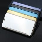 Flip Mirror functionpu Leather Phone Cases For Huawei p8 p9 lite Phone