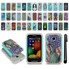 For Motorola Moto E 1st Gen 2014 Hybrid Bumper Shockproof Case Cover + Pen