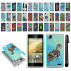 For ZTE Warp Elite Z9518 Hybrid Bumper Shockproof Hard TPU Case Cover + Pen