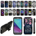 For Samsung Galaxy J3 Emerge J327 2nd Gen Hybrid Heavy Duty Kickstand Case + Pen