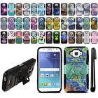 For Samsung Galaxy J7 J700 Hybrid Rugged Heavy Duty Kickstand Case Cover + Pen