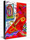 Etude - Colorful abstract painting image on wrapped canvas, by Galina