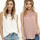 New Women Summer Lace Vest Top Sleeveless Blouse Casual Tank Tops T-Shirt