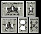 RUSTIC BARN STAR HOME SWEET HOME BLACK GRAY  LIGHT SWITCH COVER PLATE