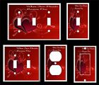 WHEN TWO HEARTS BECOME ONE RED LIGHT SWITCH COVER PLATE