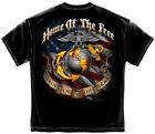 Marine Corps, USMC T-Shirt Usmc Home Of The Free Because Of The Brave Usmc Black