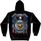 US Marine Corps Hooded Sweatshirt, True Hero Marine Corps Unisex