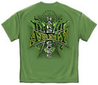 Army T-Shirt Hardcore Army Military Green