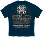 Firefighter T-Shirt Absolute Firefighter Blue Print Navy