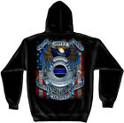 Law Enforcement Hooded Sweat Shirt Honor Our Fallen Officers Black