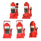 New 20/12/6/4/2 Ton Hydraulic Bottle Jack Low Profile Automotive Lift Tool Red