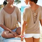 Casual Women Short Sleeve Top Fashion Summer Loose T Shirt Tops Blouse M-5XL