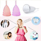 Women Reusable Silicone Menstrual Cup Period Soft Medical Diva Cups Size S & L